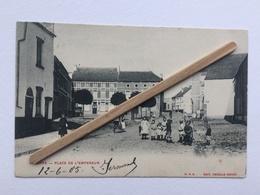 GENAPPE «PLACE DE L'EMPEREUR «Panorama ,belle Animation(1905)Édit DECELLE Sœurs,O.V.S. - Genappe