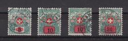 SUISSE TAXE 1916-1924: LA SERIE COMPLETE (4 Valeurs),  Oblitérée - Portomarken