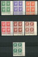 7461  FRANCE   N°  508, 509, 511, 514, 515, 517, 518**  Maréchal Pétain (voir Détails Sur Scans)    TTB - Coins Datés