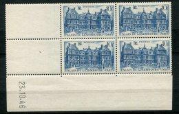 7464  FRANCE   N° 760 **  10 F Bleu Palais Du Luxembourg   Du 23.10.46   TTB - Coins Datés