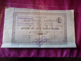MAISONS DE RAPPORT (250 Francs) - Azioni & Titoli