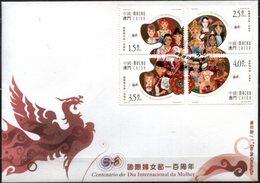 MACAU, 2010, WOMEN INTERNATIONAL DAY, YV#, FDC - 1999-... Chinese Admnistrative Region