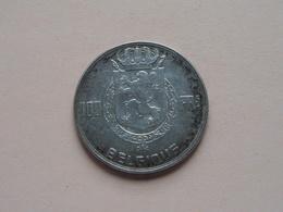 1950 - 100 Frank ( KM 138.1 ) Munt 18 Gram - 15 Gr. Zilver / Silver ( Zie Foto )  ! - 1945-1951: Régence