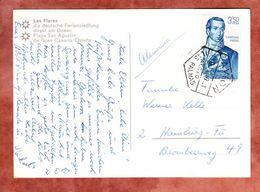 AK Las Flores, EF Cayetano Valdes, Las Palmas Nach Hamburg 1967 (52831) - 1931-Heute: 2. Rep. - ... Juan Carlos I