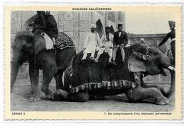 CPA éléphant ELEPHANT Non Circulé Inde India - Elephants