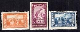 Monaco YT N° 131/133 Neufs *. B/TB. A Saisir! - Monaco