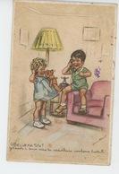 ENFANTS - LITTLE GIRL - MAEDCHEN -Jolie Carte Fantaisie Enfants Avec Ours En Peluche Au Téléphone Signée GERMAINE BOURET - Bouret, Germaine