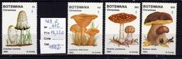 4 Timbres ** Champignon Du Bostwana (voir Dans Ma Boutique Mes Nombreux Lots Champignons Du Monde Entier) - Champignons