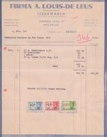 1943: Factuur Van ## Firma A. LOUIS-DE LEUS, IJzeren Leen, 6, Mechelen ## Aan ## Firma GULDERS & VAN VAECK, T/S ## - Belgium