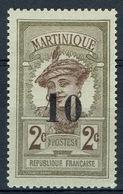Martinique, Martiniquaise Woman, 10/2c, 1920, MH VF - Martinique (1886-1947)