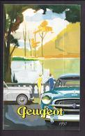 Dépliant Publicitaire 1957 PEUGEOT Modèles 203 403 Et Utilitaires - Automobile Fourgon Berline Cabriolet - Cars