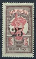 Martinique, Martiniquaise Woman, 25/15c, 1920, MH VF - Martinique (1886-1947)
