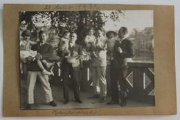 Photo Originale Madagascar Tananarive Antananarivo 1932 8 Personnages - Madagascar