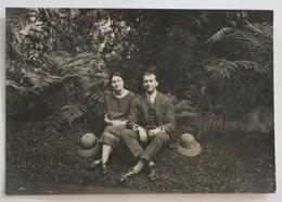 Photo Originale Madagascar  Jardin D'Antananarivo Tananarive Années 20 Couple - Madagascar