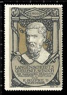 Old German Poster Stamp Cinderella Reklamemarke Vignette Erinnofili Publicité Greece Herodotus Greek Historian - Cinderellas