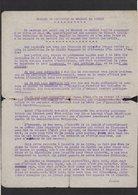 Histoire Politique / Message De Démission Que Le Général De Gaulle Voulait Prononcer à La Radio Le 20/01/1946...... - Documents Historiques