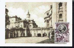 "VATICAN - 1954 - Carte Maximum ""Rome - Basilique St Pierre - La Sacristie"" B/TB - - Maximumkaarten"