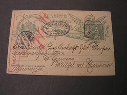 Lisboa Karte Nach Wülfel Hannover 1907 - Ganzsachen