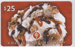 GIFT CARD - USA - COLD STONE-017 - Gift Cards