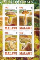1 Feuillet ** De 4 Timbres De Malawi Champignon (voir Dans Ma Boutique Mes Nombreux Lots Champignons Du Monde) - Champignons