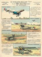 ~ JP  ~  LES MONOPLANS .  Imagerie D' épinal . Merci De Lire Les Textes  . - Aviazione