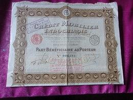 CREDIT MOBILIER INDOCHINOIS (société D'exploitation Des Monts De Piété De Cochinchine) SAIGON,INDOCHINE - Shareholdings