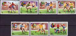 LIBERIA 1974 - MONDIALI DI CALCIO A MONACO - 7 VALORI NUOVI CTO - Liberia