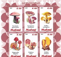 1 Feuillet ** De 6 Timbres De Malawi Champignon (voir Dans Ma Boutique Mes Nombreux Lots Champignons Du Monde) - Champignons