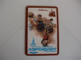 Aeroflot Soviet Airlines Pocket Calendar 1980 - Calendars
