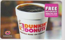GIFT CARD - USA - DUNKIN DONUTS-039 - Gift Cards