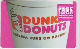 GIFT CARD - USA - DUNKIN DONUTS-065 - Gift Cards