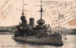 86Cpt  Marine Militaire Française Cuirassé Bouvet En Rade à Villefranche Sur Mer - Guerre