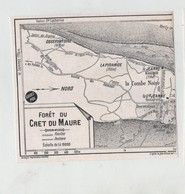 Forêt Du Crêt Du Maure 1952  Annecy Monastère La Jeanne Semnoz - Maps