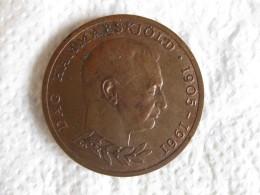 Suède . Médaille Dag Hammarskjold United Nations, Danemark 1962 - Jetons En Medailles