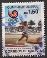 BOLIVIA 1988 Olympic Games, Seoul. USADO - USED. - Bolivië