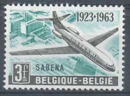 [650290] **/Mnh-N° 1259-cu, Avion, Caravelle 6, SABENA, Cadre Supérieur Du Cartouche Brisé - Variétés Et Curiosités