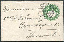 1908 Egypt Stationery Cover, Port Said - Copenhagen Denmark - Egypt
