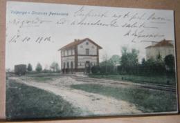 VALPERGA , STAZIONE FERROVIARIA - 1906 VIAGGIATA - Altre Città