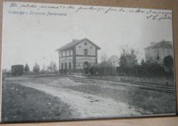 VALPERGA , STAZIONE FERROVIARIA - 1904 VIAGGIATA - Altre Città