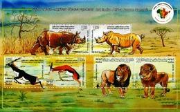 INDIA 2015 ANIMALS WILDLIFE 3RD INDIA AFRICA SUMMIT MS MNH - Emissioni Congiunte