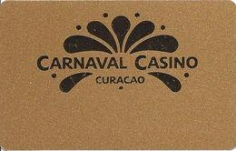 Carnaval Casino - Curacau - BLANK Gold Level Slot Card - Casino Cards