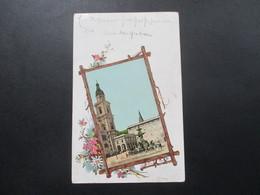 AK Mit Aufgeklebtem Foto 1900 Salzburg Stadt. Dom Mit Bischöfl. Palais. Künstlerkarte - Salzburg Stadt