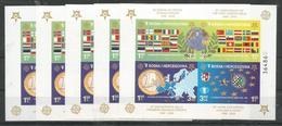 5x BOSNIA-HERCOVOGINA - MNH - Europa-CEPT - 2006 - Chess - Flags - Imperf. - Europa-CEPT