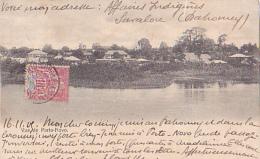Vue De Porto-Novo - Circ 1905, Cachet Ligne Maritime De Loango à Marseille, LM N° 3 - Dahomey