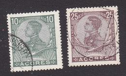 Azores, Scott #114, 117, Used, King Manuel II, Issued 1910 - Açores