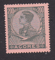 Azores, Scott #122, Mint Hinged, King Manuel II, Issued 1910 - Azores