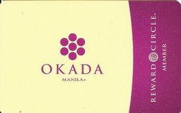 Okada Casino - Manila - RFID Slot Card With Paper Envelope - Casino Cards