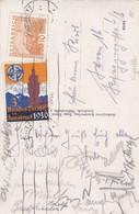 Bundes-Turnfest In Innsbruck 1930, Gestempelte Vignette Auf Ansichtskarte. Pferdekutschen - Vignetten (Erinnophilie)