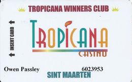 Tropicana Casino - Sint Maarten - Slot Card - Casino Cards