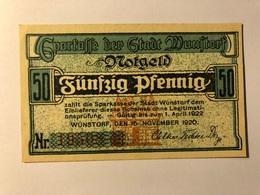 Allemagne Notgeld Wunstorf 50 Pfennig - Collections